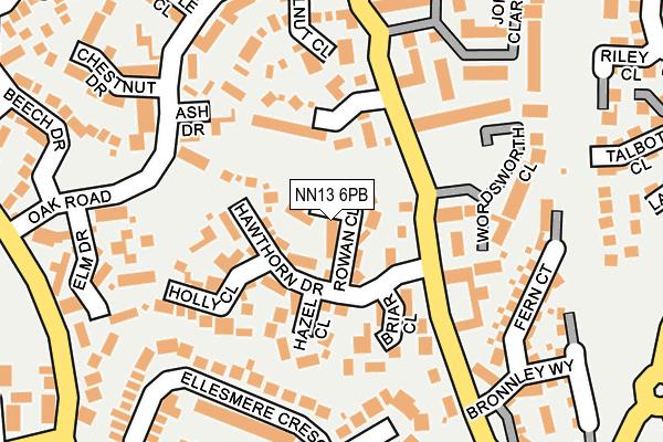 NN13 6PB map - OS OpenMap – Local (Ordnance Survey)