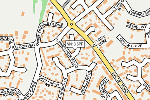 NN13 6PP map - OS OpenMap – Local (Ordnance Survey)