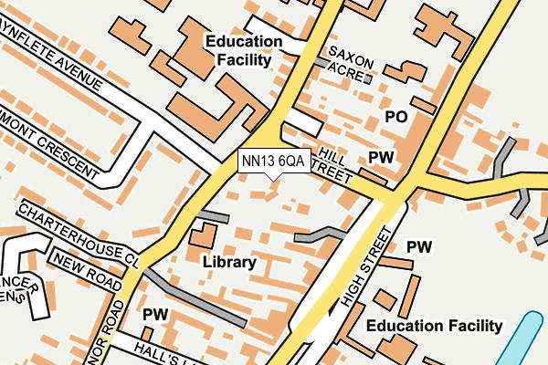 NN13 6QA map - OS OpenMap – Local (Ordnance Survey)