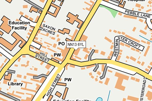 NN13 6YL map - OS OpenMap – Local (Ordnance Survey)