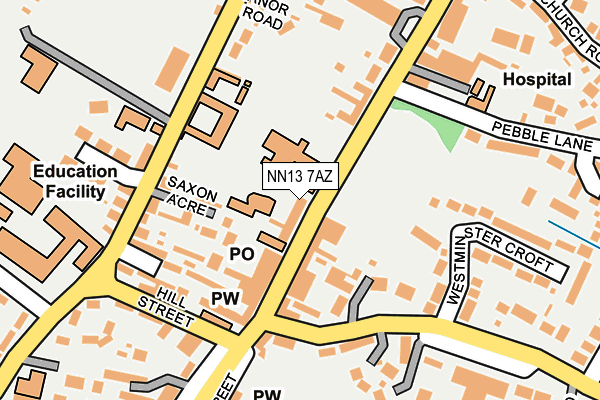 NN13 7AZ map - OS OpenMap – Local (Ordnance Survey)