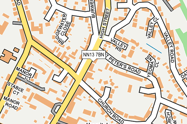 NN13 7BN map - OS OpenMap – Local (Ordnance Survey)