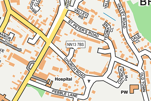 NN13 7BS map - OS OpenMap – Local (Ordnance Survey)