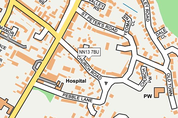 NN13 7BU map - OS OpenMap – Local (Ordnance Survey)