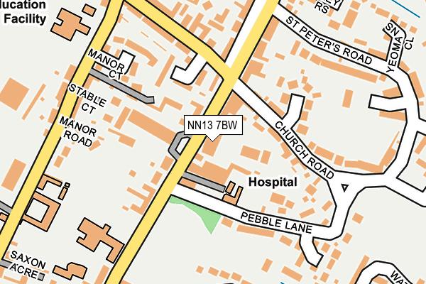 NN13 7BW map - OS OpenMap – Local (Ordnance Survey)