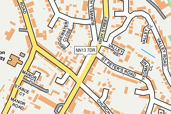 NN13 7DR map - OS OpenMap – Local (Ordnance Survey)