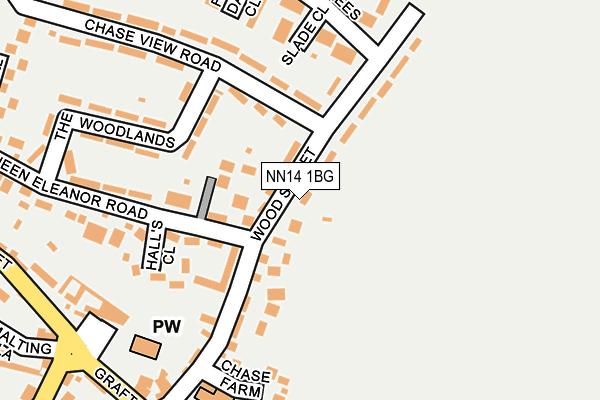 NN14 1BG map - OS OpenMap – Local (Ordnance Survey)