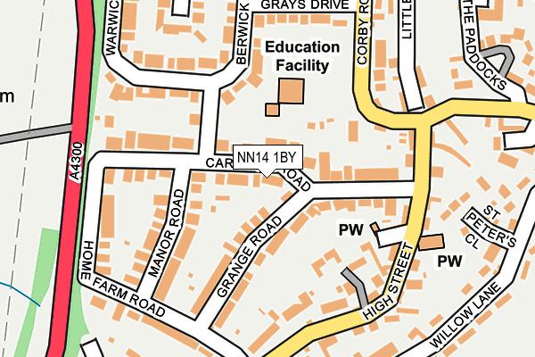 NN14 1BY map - OS OpenMap – Local (Ordnance Survey)
