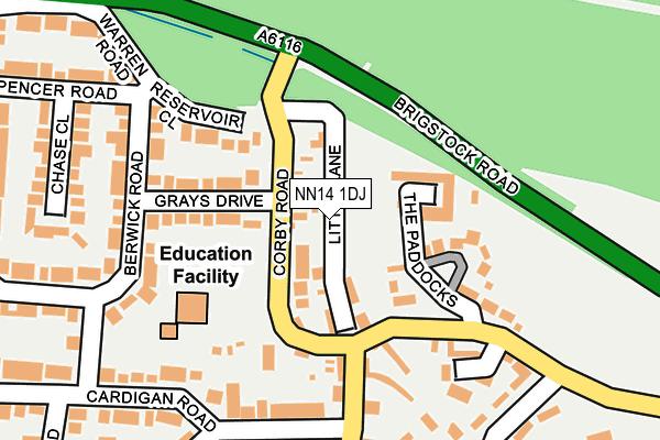 NN14 1DJ map - OS OpenMap – Local (Ordnance Survey)