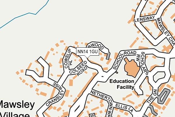 NN14 1GU map - OS OpenMap – Local (Ordnance Survey)