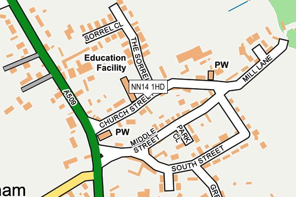 NN14 1HD map - OS OpenMap – Local (Ordnance Survey)
