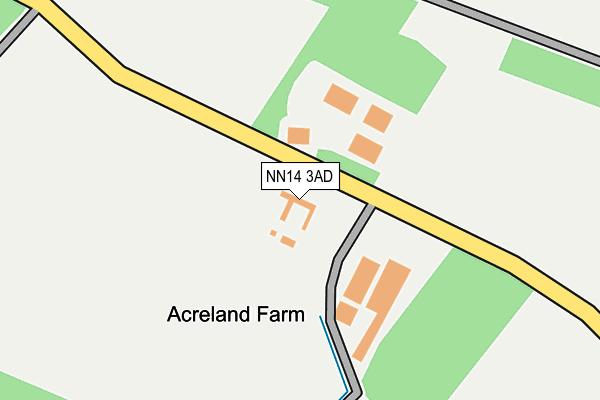 NN14 3AD map - OS OpenMap – Local (Ordnance Survey)