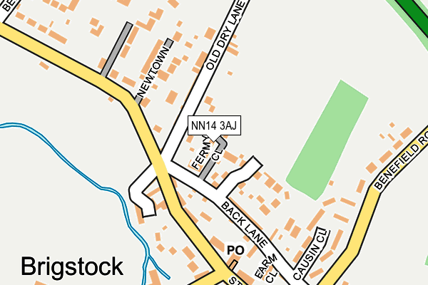 NN14 3AJ map - OS OpenMap – Local (Ordnance Survey)