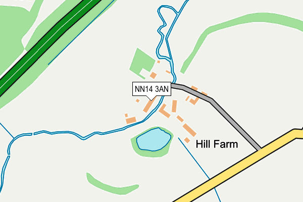 NN14 3AN map - OS OpenMap – Local (Ordnance Survey)