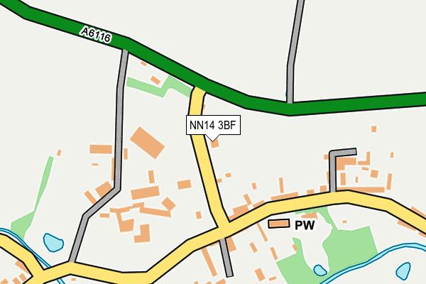NN14 3BF map - OS OpenMap – Local (Ordnance Survey)
