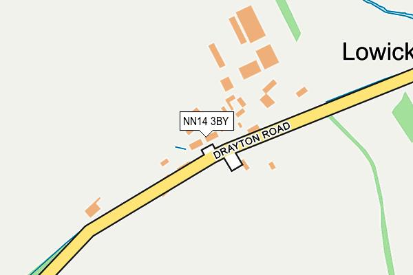 NN14 3BY map - OS OpenMap – Local (Ordnance Survey)