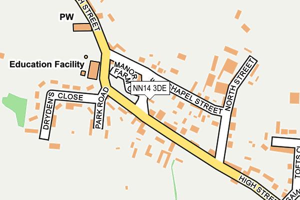 NN14 3DE map - OS OpenMap – Local (Ordnance Survey)