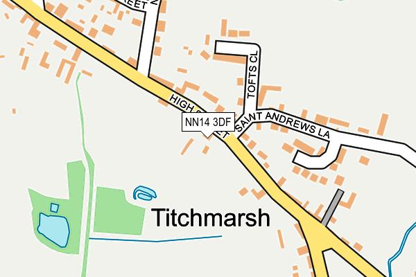NN14 3DF map - OS OpenMap – Local (Ordnance Survey)