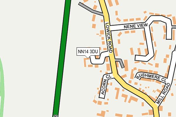NN14 3DU map - OS OpenMap – Local (Ordnance Survey)