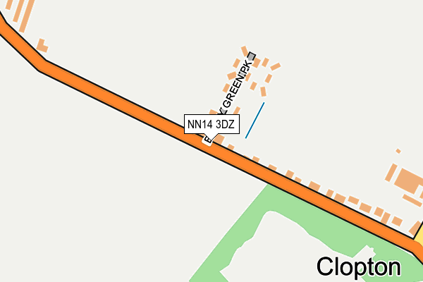 NN14 3DZ map - OS OpenMap – Local (Ordnance Survey)