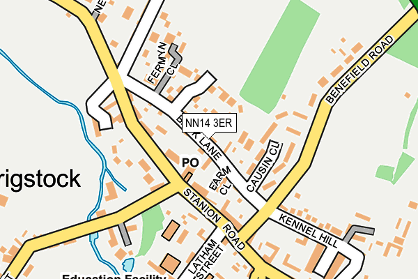 NN14 3ER map - OS OpenMap – Local (Ordnance Survey)