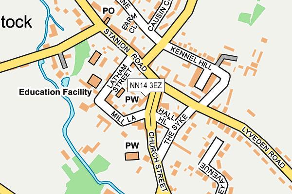 NN14 3EZ map - OS OpenMap – Local (Ordnance Survey)