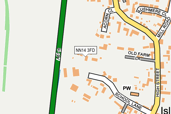 NN14 3FD map - OS OpenMap – Local (Ordnance Survey)