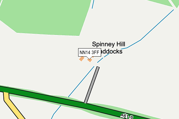 NN14 3FF map - OS OpenMap – Local (Ordnance Survey)