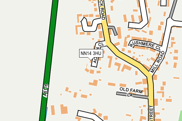 NN14 3HU map - OS OpenMap – Local (Ordnance Survey)