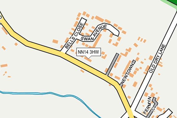 NN14 3HW map - OS OpenMap – Local (Ordnance Survey)
