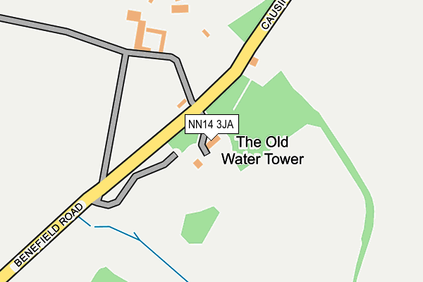 NN14 3JA map - OS OpenMap – Local (Ordnance Survey)