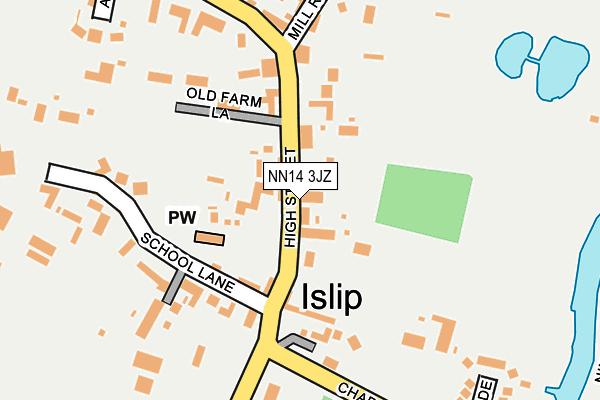 NN14 3JZ map - OS OpenMap – Local (Ordnance Survey)
