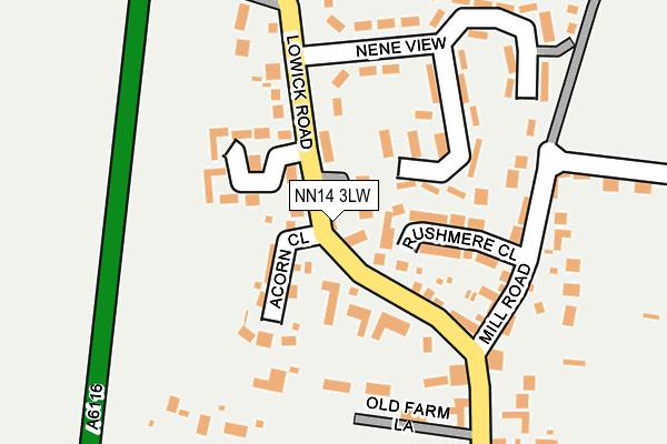 NN14 3LW map - OS OpenMap – Local (Ordnance Survey)