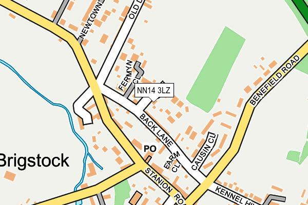 NN14 3LZ map - OS OpenMap – Local (Ordnance Survey)