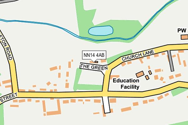 NN14 4AB map - OS OpenMap – Local (Ordnance Survey)