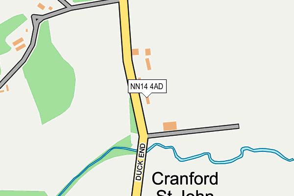 NN14 4AD map - OS OpenMap – Local (Ordnance Survey)