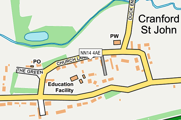 NN14 4AE map - OS OpenMap – Local (Ordnance Survey)