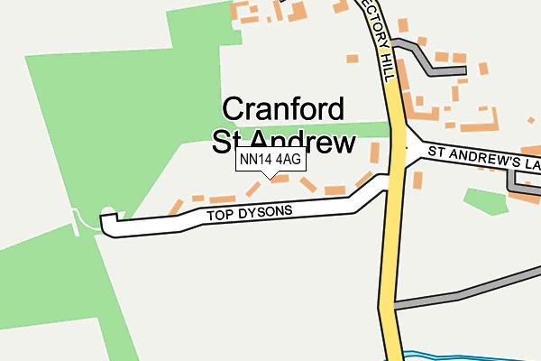 NN14 4AG map - OS OpenMap – Local (Ordnance Survey)