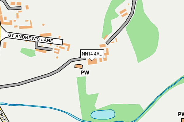 NN14 4AL map - OS OpenMap – Local (Ordnance Survey)