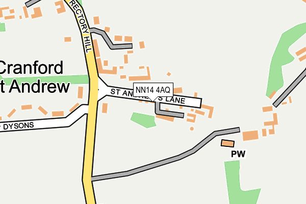 NN14 4AQ map - OS OpenMap – Local (Ordnance Survey)
