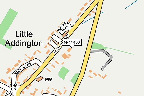 NN14 4BD map - OS OpenMap – Local (Ordnance Survey)