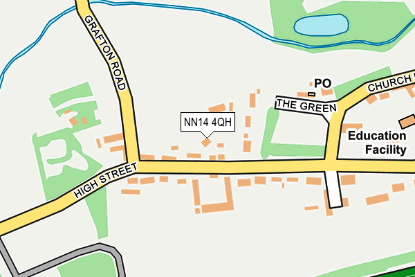 NN14 4QH map - OS OpenMap – Local (Ordnance Survey)