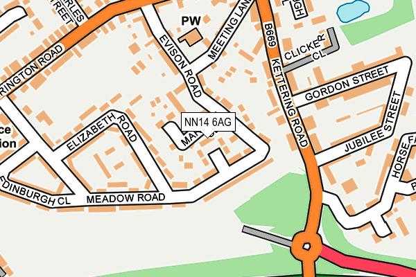 NN14 6AG map - OS OpenMap – Local (Ordnance Survey)