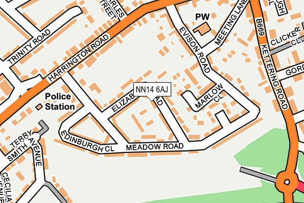 NN14 6AJ map - OS OpenMap – Local (Ordnance Survey)