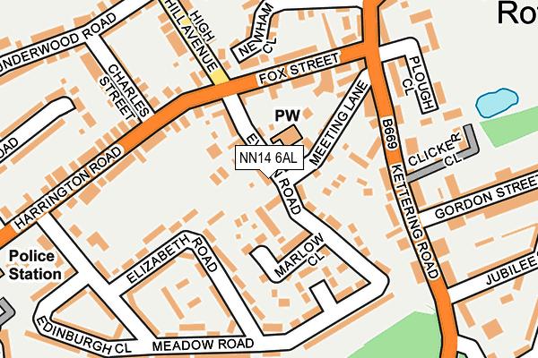NN14 6AL map - OS OpenMap – Local (Ordnance Survey)