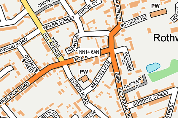 NN14 6AN map - OS OpenMap – Local (Ordnance Survey)