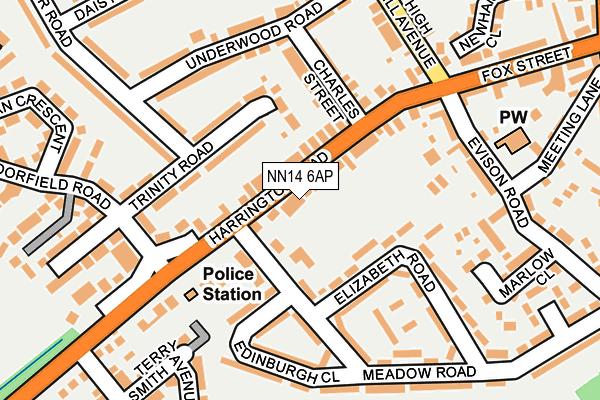 NN14 6AP map - OS OpenMap – Local (Ordnance Survey)