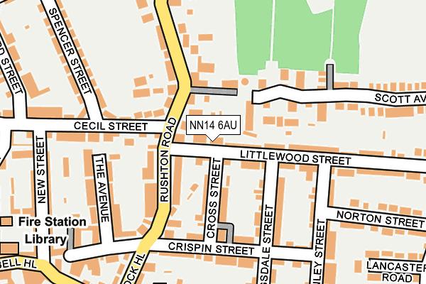 NN14 6AU map - OS OpenMap – Local (Ordnance Survey)