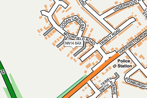 NN14 6AX map - OS OpenMap – Local (Ordnance Survey)