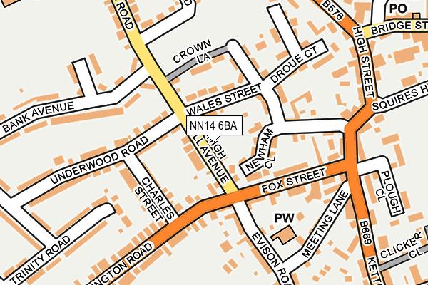 NN14 6BA map - OS OpenMap – Local (Ordnance Survey)